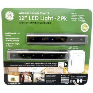 12 Wireless Remote Control LED Light UNDER CABINET LIGHTING controlled