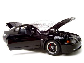 2001 Ford Mustang Bullitt Black 1 18 Diecast Car Model by Autoart