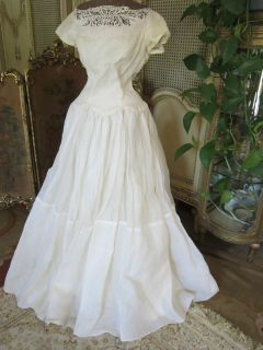 Museum Collection 50s Cahill Beverly Hills Organza Formal Gown Prom