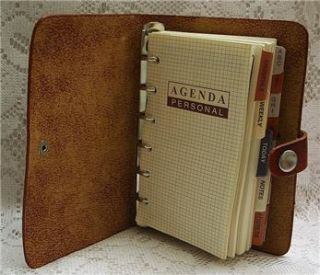 2012 Personal Pocket Leather Daily Planner Organizer Diary   Brown