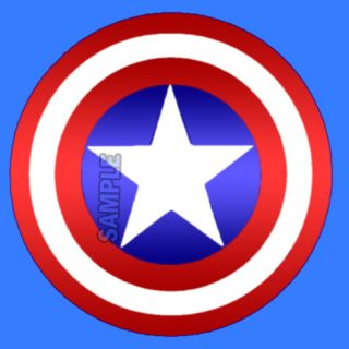 Captain America Shield Round Edible Cake Image Topper 1