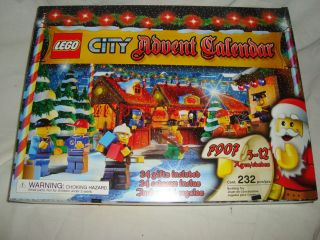 RARE Lego City Advent Holiday Calendar Set 2007 7907 w Firefighter 232