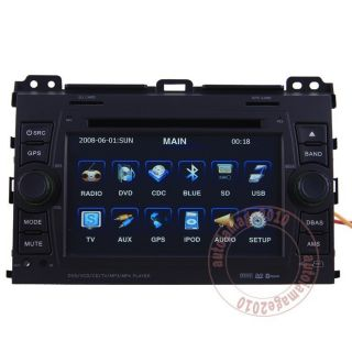 Cruiser 120 Series Prado Car GPS Navigation Radio TV DVD MP4