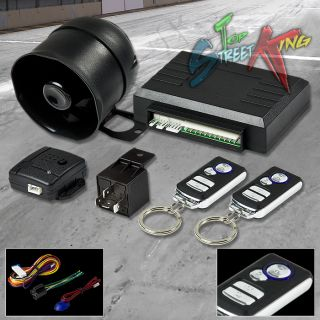 CAR/AUTO SECURITY ALARM SYSTEM SIREN KEYLESS ENTRY + MULTI FUNCTION