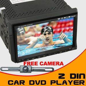 Auto Indash 2Din Car Stereo DVD Player 7LCD Camera