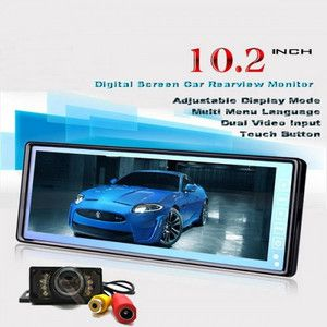 TFT LCD Car Rearview Monitor Mirror Waterproof IR Night Vision Car