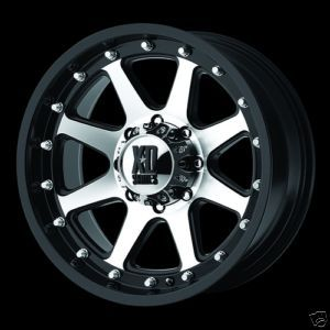 17 inch XD798 Addict Black 17x9 0 Offroad Truck Rims Wheels Set