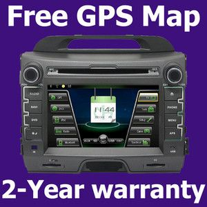 Dual Zone RDS Radio Car GPS Navigation DVD Player for Kia Sportage