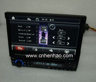 Single DIN 7Digital Touch Screen GPS DVD CD Car Player