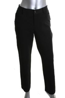Ralph Lauren New Catlin Black Twill Flat Front Straight Dress Pants 10