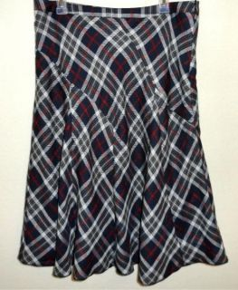Cato Sz 16 Lined Black Red Gray Plaid Polyester Rayon Acrylic Flowing