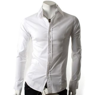New Mens Casual Luxury Stylish Dress Slim Shirts ST50