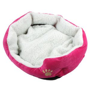 Warm Fleece Pet Dog Puppy Cat Bed House Nest with Plush Mat Pad
