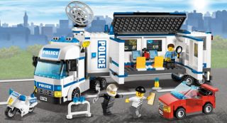 Lego 7288 City Mobile Police Unit Command Centre Truck Sports Car Bike