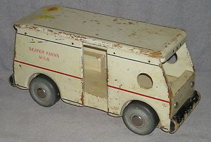 Vintage Wood Seaver Toy Co Burbank California Milk Truck Antique
