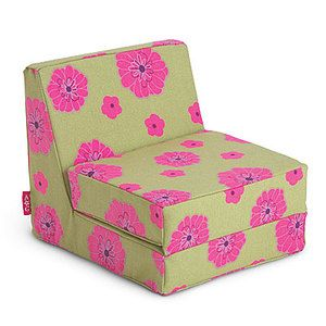 Girl Just Like You Floral Flower Green Pink Flip Lounge Chair Doll Bed