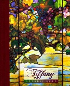 Tiffany Deluxe Address Book Art Nouveau Stained Glass