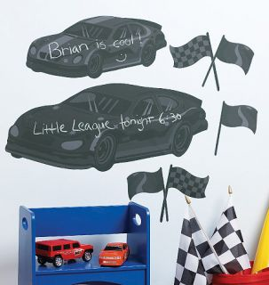 Raceway Race Car Chalkboards Cars Wall Chalk Board Message Center