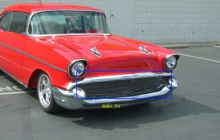 57 Chevy Chevrolet Bel Air Custom Billet Grille 1957 Nomad Impala in