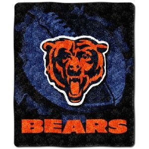 NWT Chicago Bears Super Soft Sherpa Throw PLUSH Blanket 50x60