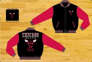 Chicago Bulls NBA Two Toned Reversible Wool Adult Jacket by JH Design