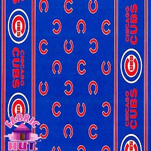 114226117  Chicago Cubs MLB Baseball 100% Polyester Fleece Fabric All