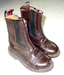 Child Nittany Riding Boots Brown Leather Ankle Zip Up High Quality 11