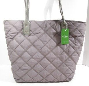 Kate Spade Chestnut Ridge Gray Ash Nylon Bon Shopper Tote Bag Purse