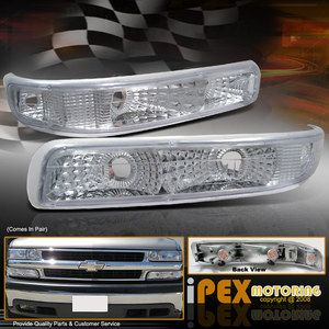 1999 2002 Chevy Silverado 1500 2500 Clear Bumper Turn Signal Parking