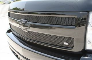 2007 2011 Chevy Silverado 1500 2pc Upper Black Mesh Grille Grillcraft