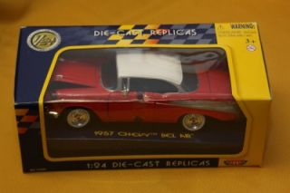 Model Car 1957 Chevy Bel Air Replica 1 24 Collectors Edition Great