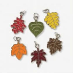 Colors of Autumn Fall Leaves Enamel Metal Charms   Thanksgiving