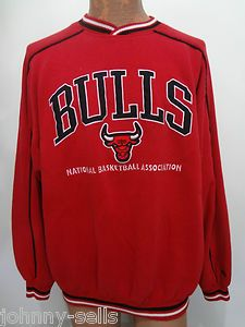 Chicago Bulls Basketball NBA Lee Sport Red Sweatshirt XXL