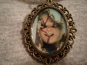 Childs Play Killer Doll Chucky Horror Goth Necklace