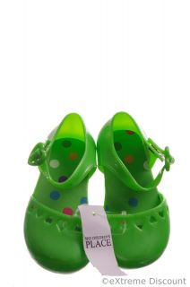 The Childrens Place Green Toddler Girls Sandals Jelly Shoes Beach 4 5