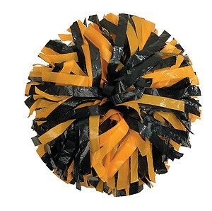 00030BA One 1 Cheerleading Pom Poms 6 2 Color Mix Plastic