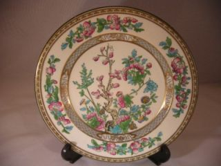 Chelsea China Plate Morris England Gold Dot H Painted Flower