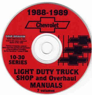 1988 1989 CHEVROLET 10 30 PICKUP & TRUCKS REPAIR SHOP MANUAL Suburban