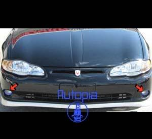 2000 2007 Chevy Monte Carlo Halo Fog Lamps Lights 05 06 VK Driving