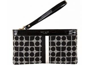 Kate Spade Classic Noel Black Zippered Chrissy Wristlet Clutch Wallet