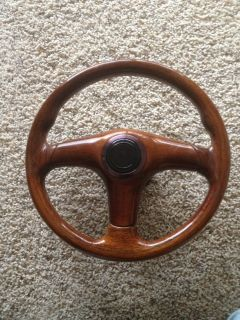 Wood Steering Wheel Rare Momo Italy Vintage Hub Classic Mercedes Chevy