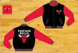 Chicago Bulls NBA Two Toned Reversible Wool Youth Jacket by JH Design