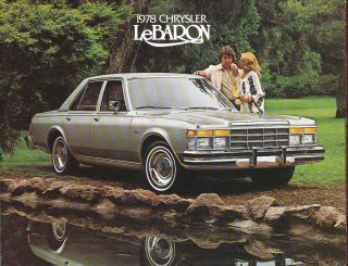 1978 Chrysler LeBaron Dealer Sales Brochure Literature Book Original