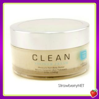 Clean Clean Shower Fresh Moisture Rich Body Butter 142g/5oz NEW
