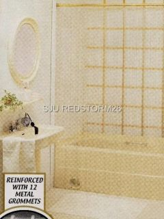 New Clear Deluxe Heavy Weight Shower Curtain Liner