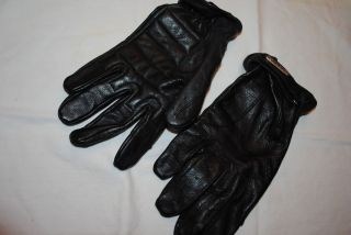 Mens HARLEY DAVIDSON Black Leather Gloves Sz XL