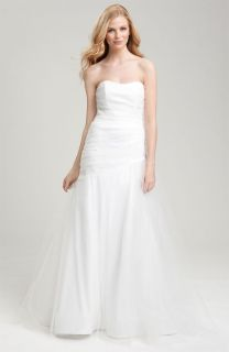 CHRISTIAN SIRIANO DRAPED TULLE PRINCESS BEACH WEDDING DRESS GOWN SOLD