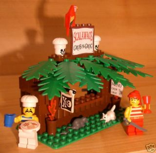 ARR CUSTOM PIRATE CAFE set LEGO restaurant food lot w/cutlass minifig