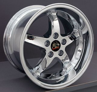 machined 17 rim fits mustang cobra wheel chrome 17x10 5