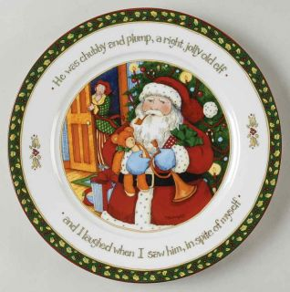 Portmeirion Christmas Story Santa Man Dinner Plate